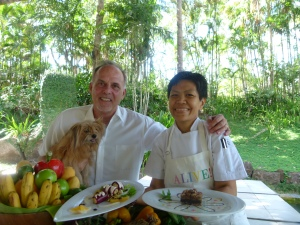 Chef Lucrecia Buking and Michael di Lonardo with Mishi
