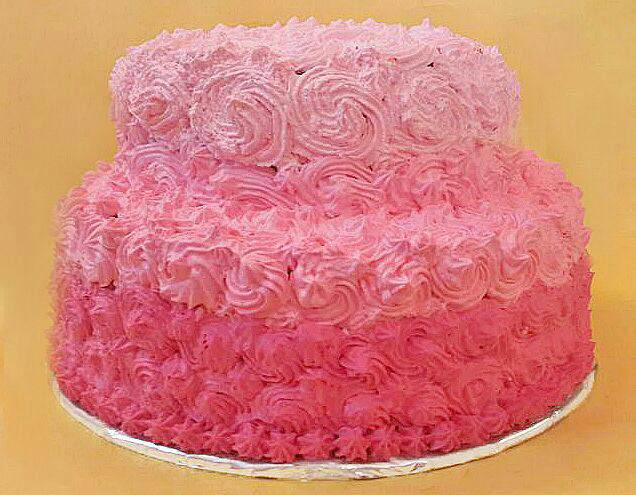 2 tier Ombre Decoration Cake
