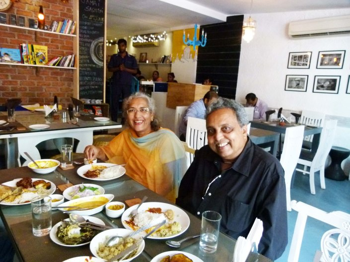 Lunching with the genius Dr Bhabatosh and Naina Sahu at Kolkatta Calling