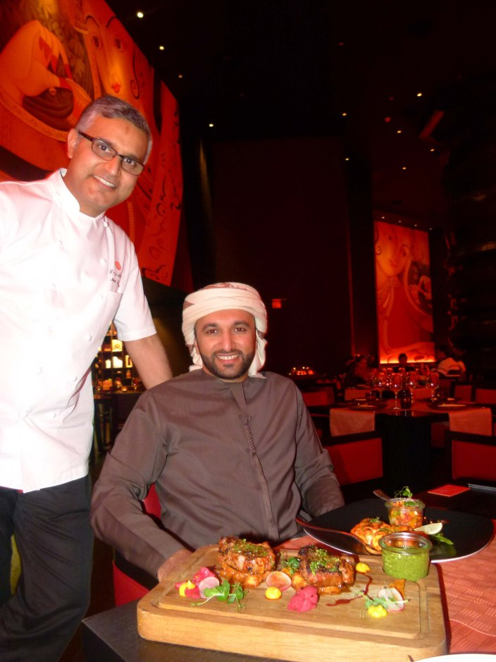 Atul Kochhar with Mana Al Suwaidi in Dubai