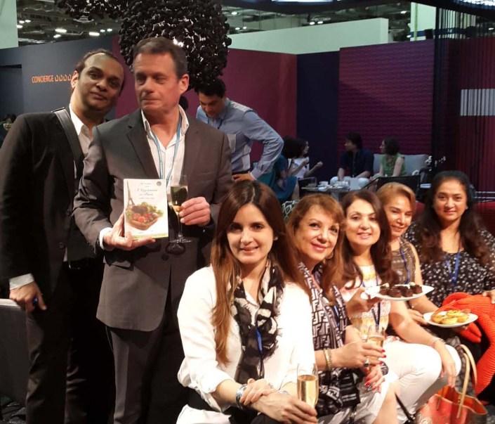 Simone Arora, Zarine Khan, Connoor Kripalani Thadani, Urvashi talwar, Sajni Gill SSTANDING Raj Anand and Phillipe Chaumat In Singapore