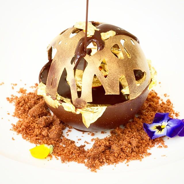 Oooh lal la raising the gold standard #24k gold #chocolate #dessert