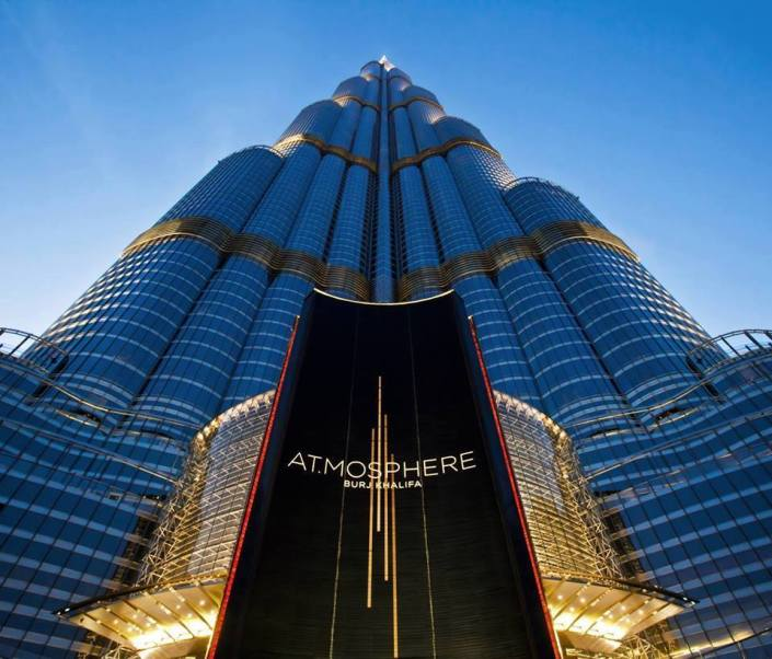 An express elevator to take you over the top to the 123rd floor to At.mosphere