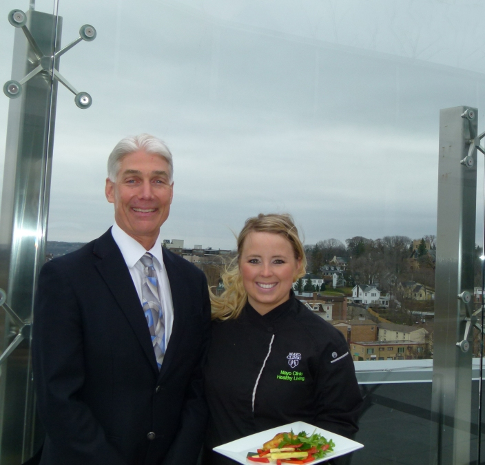 From Mayo clinic, the worlds leading medical center…Dr Donald Hensrud with Executive wellness chef Jennifer Welper