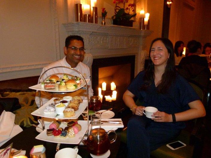 Gourmet designer High Tea .Chef Ashfer Biju  with Payal Luthra