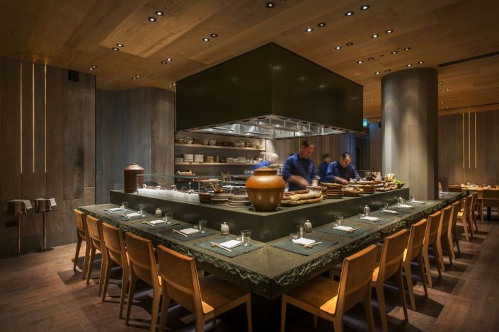 The heart of the restaurant is the robata grill, which is an integral design element of the room and source of the vibrant, welcoming energy that flows throughout.