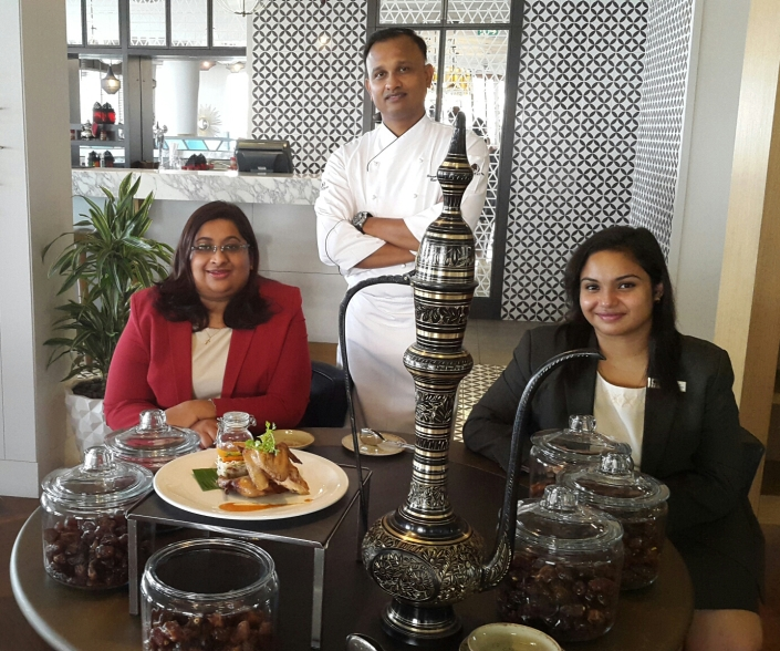 My date with flavor and health: Chef Murugan, Anita Kuruvilla and Cathereen Alex and the award winning dish