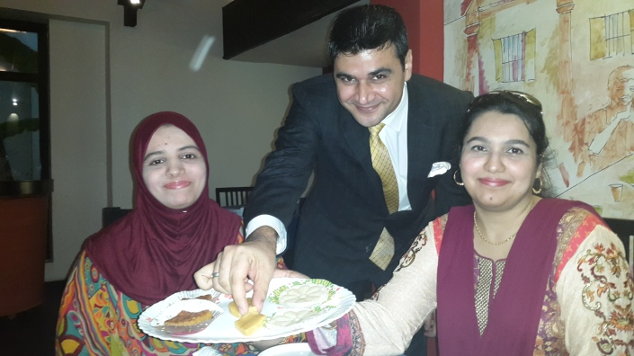 KHANDANI SWEETS: SOBIA AND AZRA  WITH  AFZAL KHAN