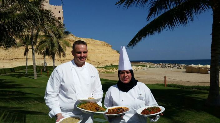 Gourmet paradise: Chef Michael and chef Shabani.