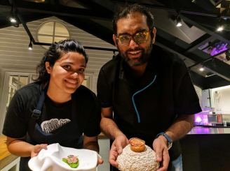 GAGGAN WITH PATISSEUR SOLANKI ROY.